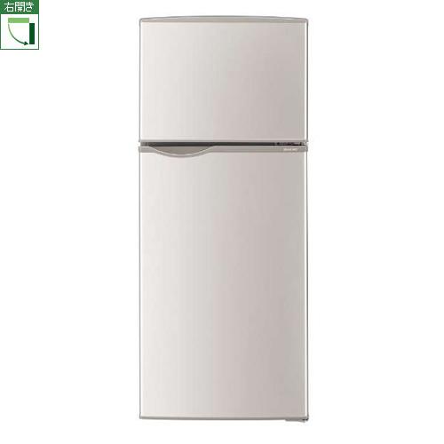 【設置+リサイクル】シャープ SJ-H12D-S(シルバー) 2ドア冷蔵庫 右開き 118L