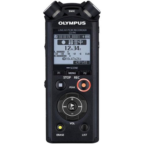 【長期保証付】オリンパス LS-P4 BLK(ブラック) Voice-Trek ICレコーダー 8GB