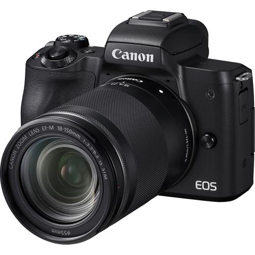 CANON キヤノン ミラーレス一眼カメラ EOS Kiss M EF-M18-150 IS STM レンズキット(ブラック) 4K動画