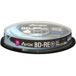 AVOX BE130RAPW10PA 録画・録音用 BD-RE 25GB 繰り返し録画 プリンタブル 2倍 10枚
