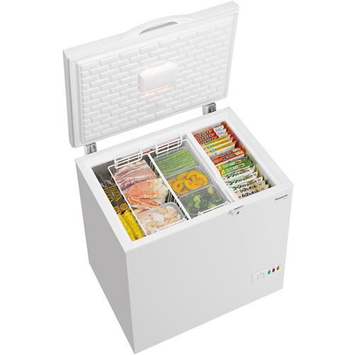 【設置】パナソニック NR-FC23FB-W(ホワイト) 1ドア冷凍庫 上開きタイプ 225L
