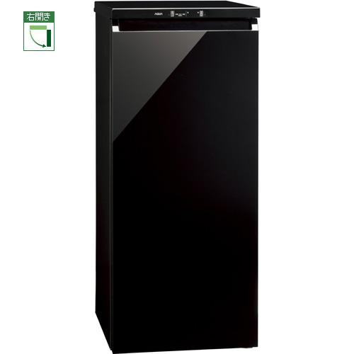 【設置+長期保証】アクア AQF-GS13G-K(クリスタルブラック) COOL Cabinet 1ドア冷凍庫 右開き 134L