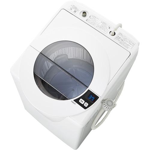 【設置】アクア AQW-LV80G-W(シャイニーホワイト) 全自動洗濯機 上開き 洗濯8.0kg