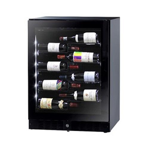 【長期保証付】ファンヴィーノ BU138AL(ブラック) ワインセラー 138L 40本収納 左開き