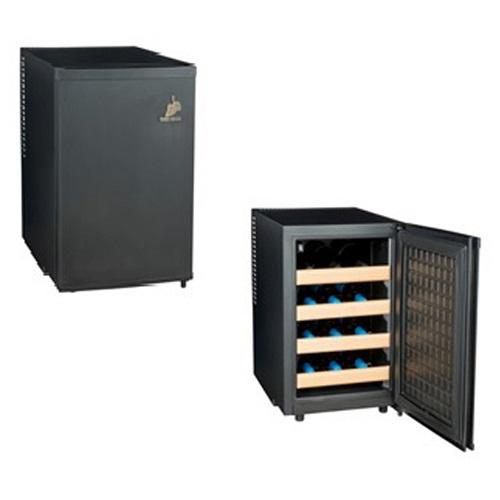【設置】三ツ星貿易 MLY48CE(ブラック) ワインセラー 48L 12本収納 右開き