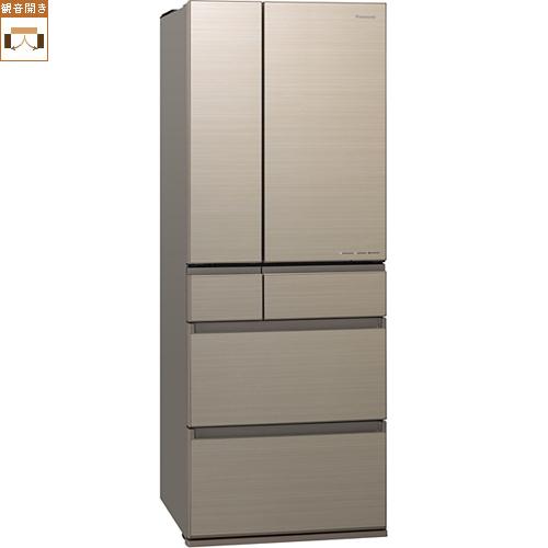 【標準設置料金込】【送料無料】パナソニック NR-F556HPX-N(アルベロゴールド) 6ドア冷蔵庫 観音開き 550L[代引・リボ・分割・ボーナス払い不可]