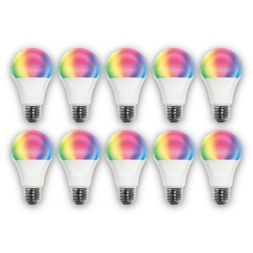 STYLED 【10個セット】 HLBDR40AG GoogleHome/Alexa WIFI スマートLED電球 E26口金 40W 調光調色