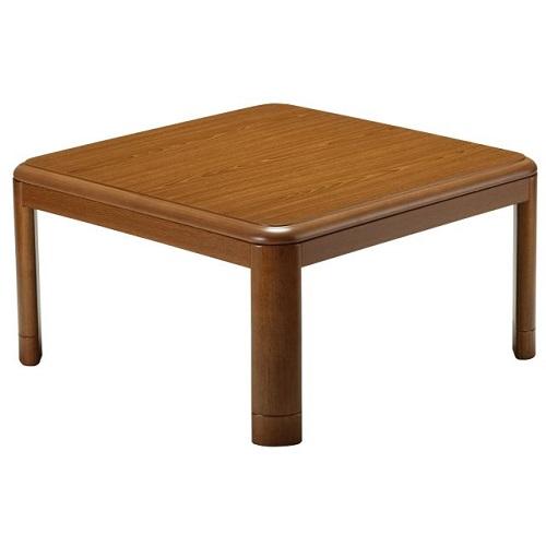 【長期保証付】ユアサプライムス YKL-802S-BR(ブラウン) 家具調こたつ 80×80cm