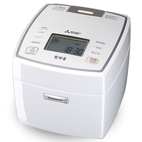 【長期保証付】三菱 NJ-VV109-W(ピュアホワイト) 炭炊釜 ジャー炊飯器 5.5合