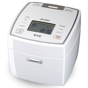 【長期保証付】三菱 NJ-VV189-W(ピュアホワイト) 炭炊釜 ジャー炊飯器 1升