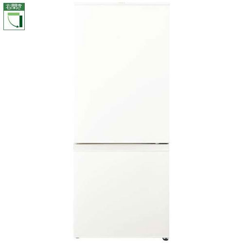 【設置+リサイクル+長期保証】アクア AQR-18H-W(ミルク) 2ドア冷蔵庫 右開き 184L