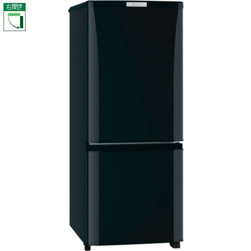 【設置+リサイクル+長期保証】三菱 MR-P15D-B(サファイアブラック) Pシリーズ 2ドア冷蔵庫 右開き 146L