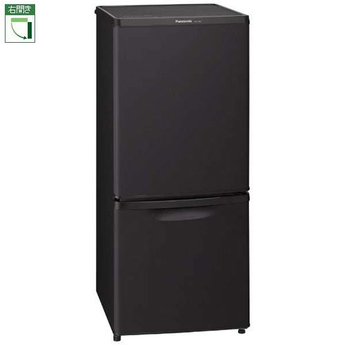 【設置+リサイクル】パナソニック NR-B14BW-T(マットビターブラウン) 2ドア冷蔵庫 右開き 138L
