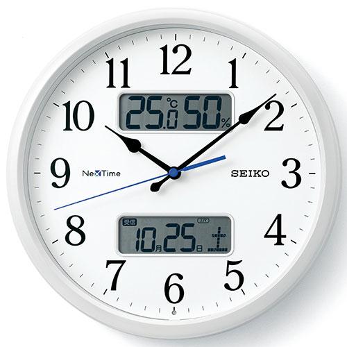 セイコー ZS251W ネクスタイムシリーズ 電波掛け時計