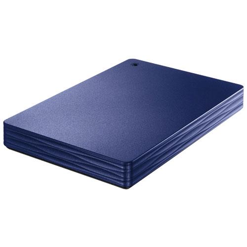 IODATA HDPH-UT2DNVR(ミレニアム群青) ポータブルHDD 2TB USB3.1Gen1(3.0) /2.0接続