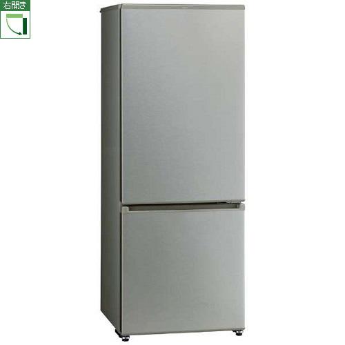 【標準設置料金込】【長期保証付】【送料無料】アクア AQR-20J-S(ブラッシュシルバー) 2ドア冷蔵庫 右開き 201L[代引・リボ・分割・ボーナス払い不可]