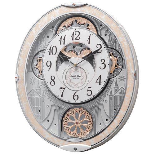 リズム時計 8MN407RH03 スモールワールド ノエル NS 報時付掛時計