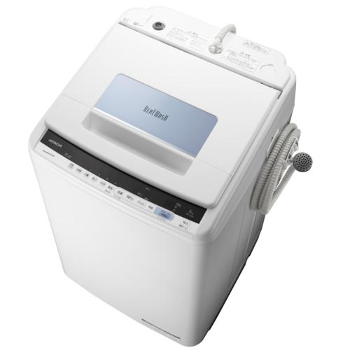日立 BW-T805-A(ブルー) ビートウォッシュ 全自動洗濯機 上開き 洗濯8kg