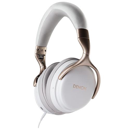【長期保証付】DENON AH-GC25W-WT(ホワイト) 高音質ワイヤレス ヘッドホン ハイレゾ対応