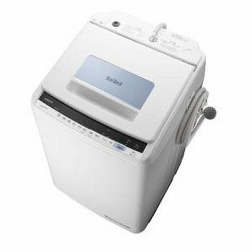 【設置】日立 BW-T805-A(ブルー) ビートウォッシュ 全自動洗濯機 上開き 洗濯8kg