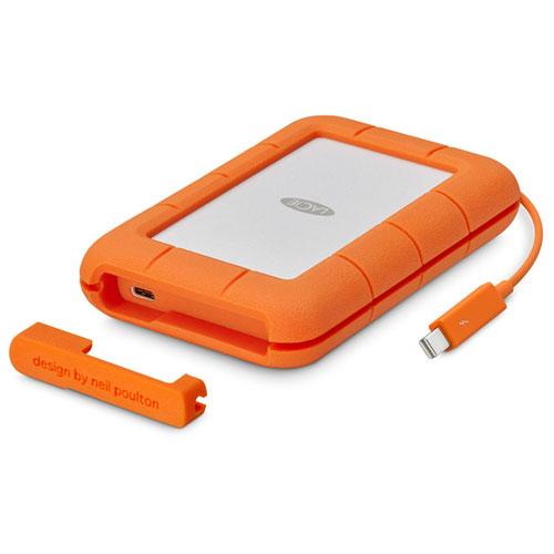 エレコム STFS5000800 ポータブルHDD 5TB Thunderbolt USB3.1(Gen1) USB3.0 USB2.0接続 耐衝撃