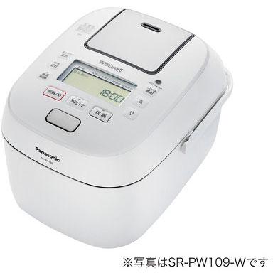 パナソニック SR-PW189-W(ホワイト) Wおどり炊き 可変圧力IHジャー炊飯器 1升