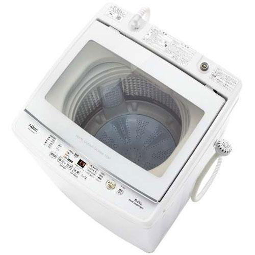 【設置+リサイクル(別途料金)】アクア AQW-GV80H-W(ホワイト) 全自動洗濯機 上開き 洗濯8kg