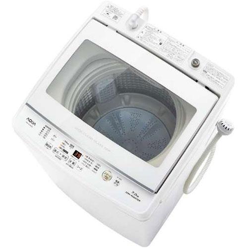 【設置+リサイクル+長期保証】アクア AQW-GV70H-W(ホワイト) 全自動洗濯機 上開き 洗濯7kg