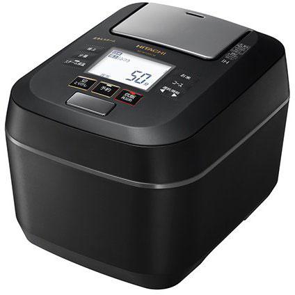 日立 RZ-W100CM-K(フロストブラック) 圧力&スチーム ふっくら御膳 IHジャー炊飯器 5.5合
