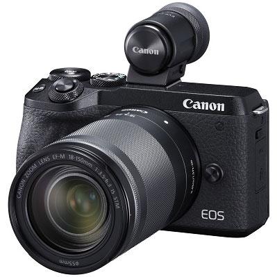 【長期保証付】CANON EOS M6 Mark II(ブラック) EF-M18-150 IS STM レンズEVFキット