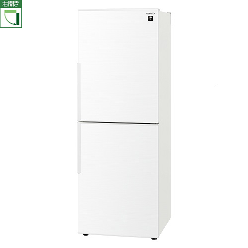 【標準設置料金込】シャープ SJ-PD28F-W(ホワイト系) 2ドア冷蔵庫 右開き 280L[代引・リボ・分割・ボーナス払い不可]