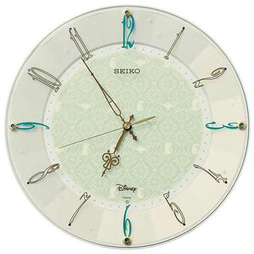 セイコー FS512C(クリームパール塗装) Disney 電波掛け時計