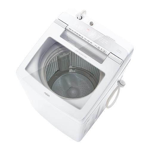 【標準設置料金込】【長期保証付】アクア AQW-GV100H-W(ホワイト) 全自動洗濯機 上開き 洗濯10Kgkg[代引・リボ・分割・ボーナス払い不可]
