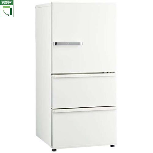 【標準設置料金込】アクア AQR-SV24J(W) (ミルク) 3ドア冷蔵庫 右開き 238L[代引・リボ・分割・ボーナス払い不可]