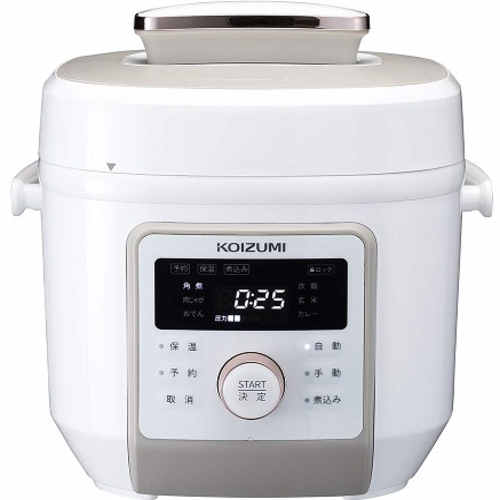 人気特価激安 【長期保証付】コイズミ KSC-4501-W(ホワイト) マイコン電気圧力鍋 2.0L, 白馬ブルークリフ 2a1d0934
