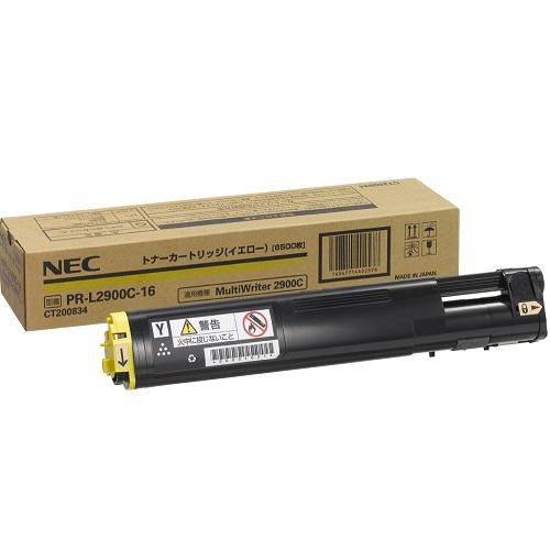 NEC 登場大人気アイテム PR-L2900C-16 純正 大容量トナーカートリッジ6.5K 今季も再入荷 イエロー