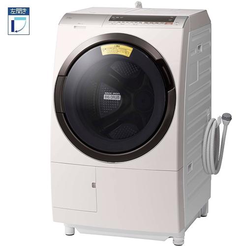 【標準設置料金込】日立 BD-SX110EL-N(ロゼシャンパン) ビッグドラム ドラム式洗濯乾燥機 左開き 洗濯11kg/乾燥6kg[代引・リボ・分割・ボーナス払い不可]