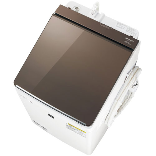 【標準設置料金込】シャープ ES-PT10D-T(ブラウン) タテ型洗濯乾燥機 上開き 洗濯10kg/乾燥5kg[代引・リボ・分割・ボーナス払い不可]