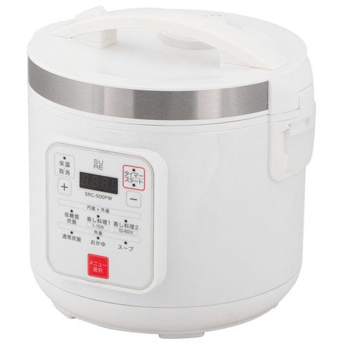【長期保証付】石崎電機製作所 SURE SRC-500PW 低糖質炊飯器 5合 通常炊飯 10合