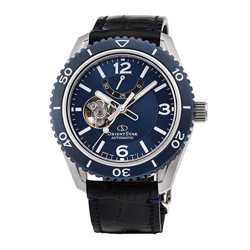 【長期保証付】オリエント RK-AT0108L(ブルー) オリエントスター 自動巻き(手巻き付き) 腕時計(メンズ)