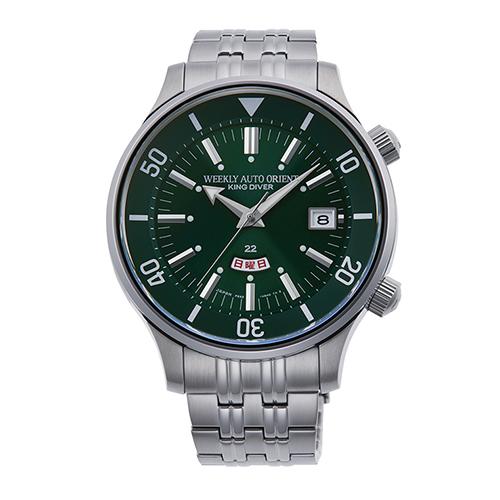 【長期保証付】オリエント RN-AA0D13E(グリーン) 自動巻き(手巻き付き) 腕時計(メンズ)