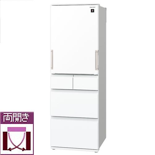 最適な価格 【標準設置料金込】シャープ SJ-G413G-W(ピュアホワイト) 5ドア冷蔵庫 両開き 412L, 生月町 9eb96cf9