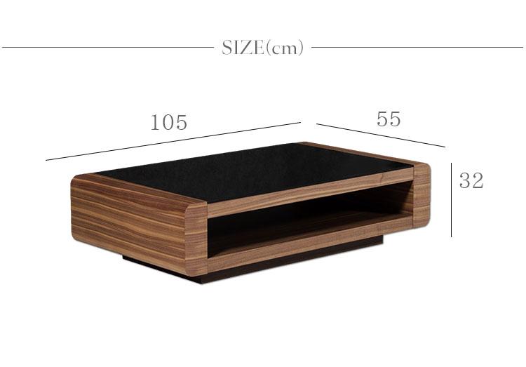 センターテーブル おしゃれ リビングテーブル ローテーブル コーヒーテーブル ガラステーブル モダン テーブル 北欧 木製 105cm 高級 ウォールナット ブラックオーク ローテーブル ブラウン スタイリッシュ  開梱設置付き HOBANG SW02A