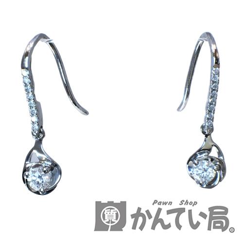 送料無料 Pt900 ダイヤモンド ピアス 0.3ct 揺れる 高級な しずく USED-AB フック 新品■送料無料■ ドロップ ダイヤ 雫