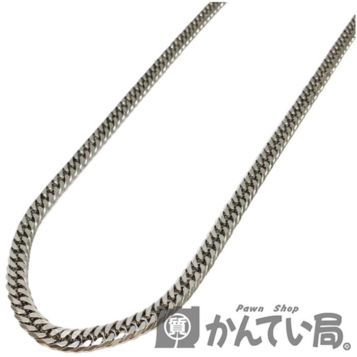 【中古】Pt1000 喜平ネックレス 6面 約50.4g 約51cm 中折れ式金具 キヘイ 6メン メンズ ジュエリー ネックレス 【USED-A】