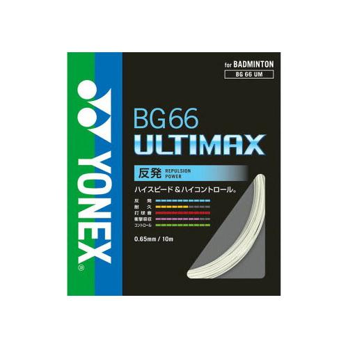【送料無料(北海道・沖縄・離島は除く) ヨネックス バドミントン ストリングス ロールガット BG66アルティマックス 200m メタリックホワイト】yonex BG66 ULTIMAX BG66UM-2 ★20500