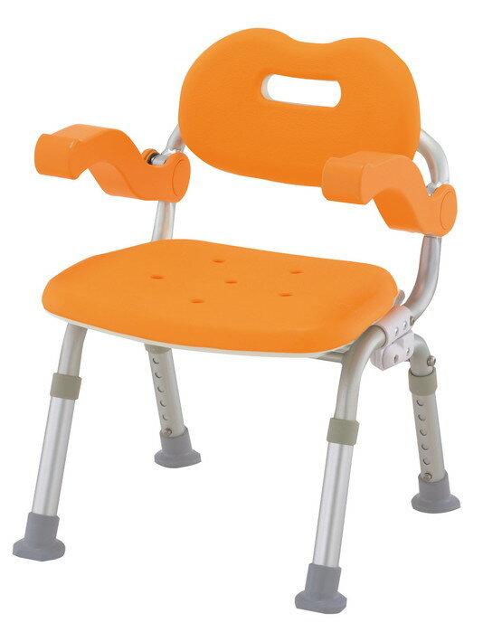 【在庫限りの大特価】パナソニックエイジフリーシャワーチェアーコンパクトサポートタイプ(折りたたみ)VAL41301D(オレンジ)VAL41301A(ブルー) 送料無料[介護 ケア サポート 介護用品 通販 風呂 折りたたみ 椅子 いす]