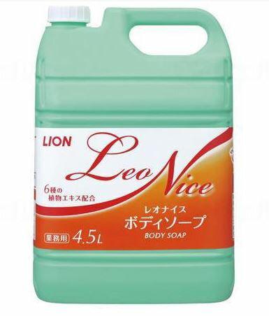 ライオン レオナイス ボディソープ 4.5L×3本/ケース 業務用[介護 ケア サポート 介護用品 通販 風呂]