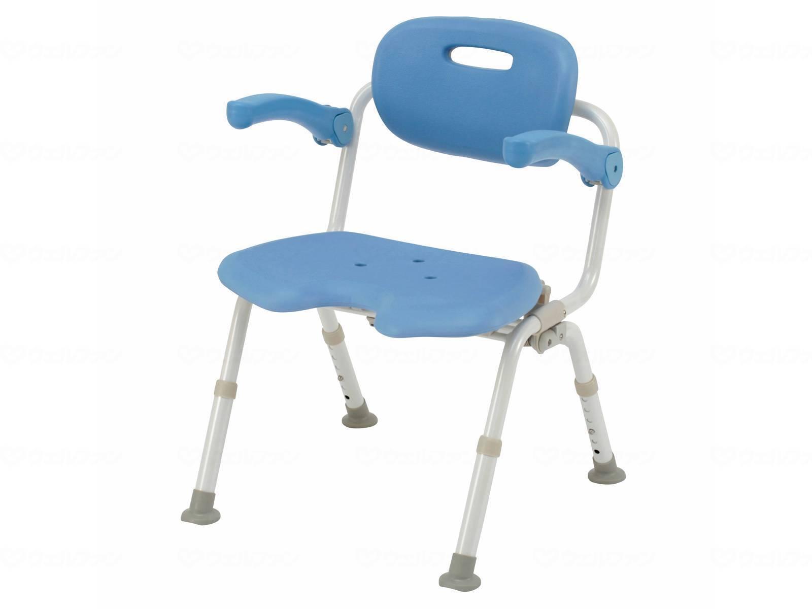 パナソニックエイジフリーシャワーチェア ユクリアワイドSPワンタッチおりたたみN U型オレンジ・ブルー・モカブラウンPN-L41521D・PN-L41521A・PN-L41521BR[介護 ケア サポート 介護用品 通販 風呂 椅子 いす]