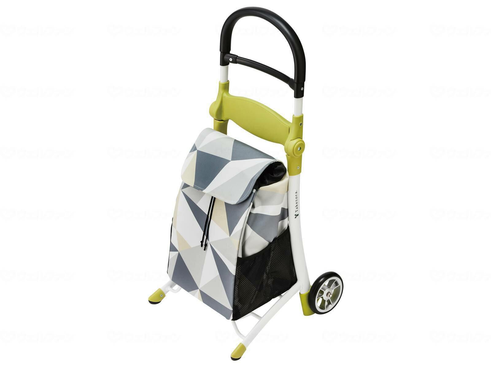 竹虎 スマイルキャリー 118001 グレー 座れるショッピングカート 送料無料 [介護 ケア 介護用品 サポート 補助]